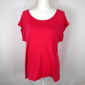 Cato Pink Short Sleeve Top Raw Edges